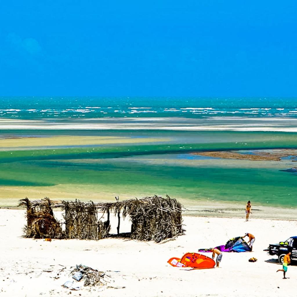 Kitesurfing in Cumbuco Brazil